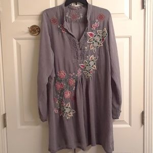 Beautiful embroidered Johnny Was tunic/dress